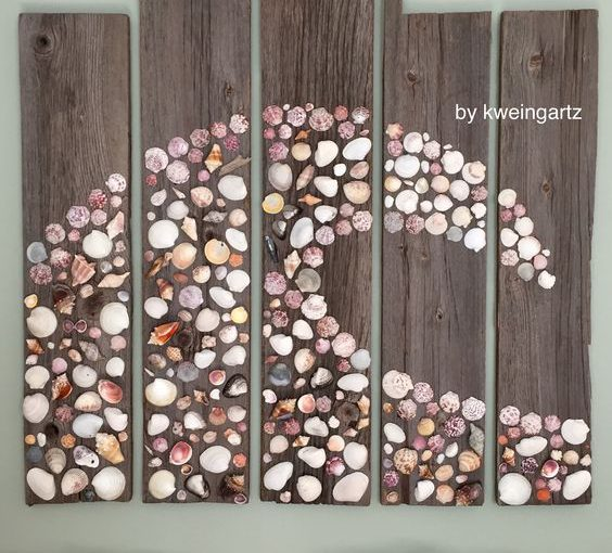 sea glass craft wall art