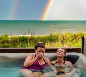Hot tub rainbow