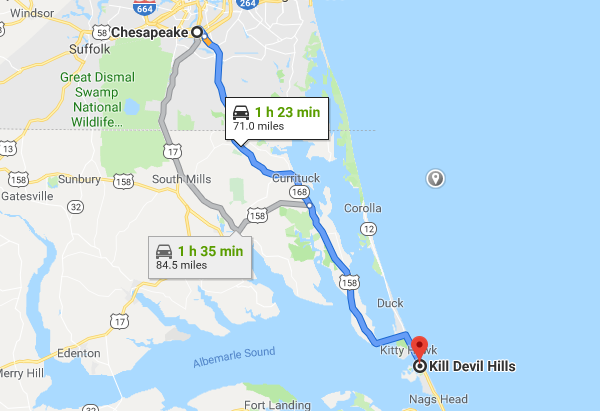 how to avoid the traffic outer banks