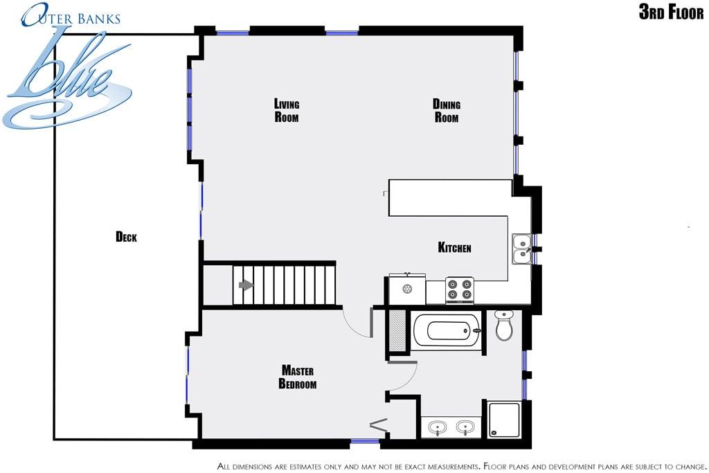 Double dip beach house nags head outer banks blue for Beach house plans outer banks