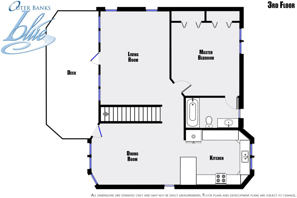 Sunbird nags head outer banks blue for Beach house plans outer banks