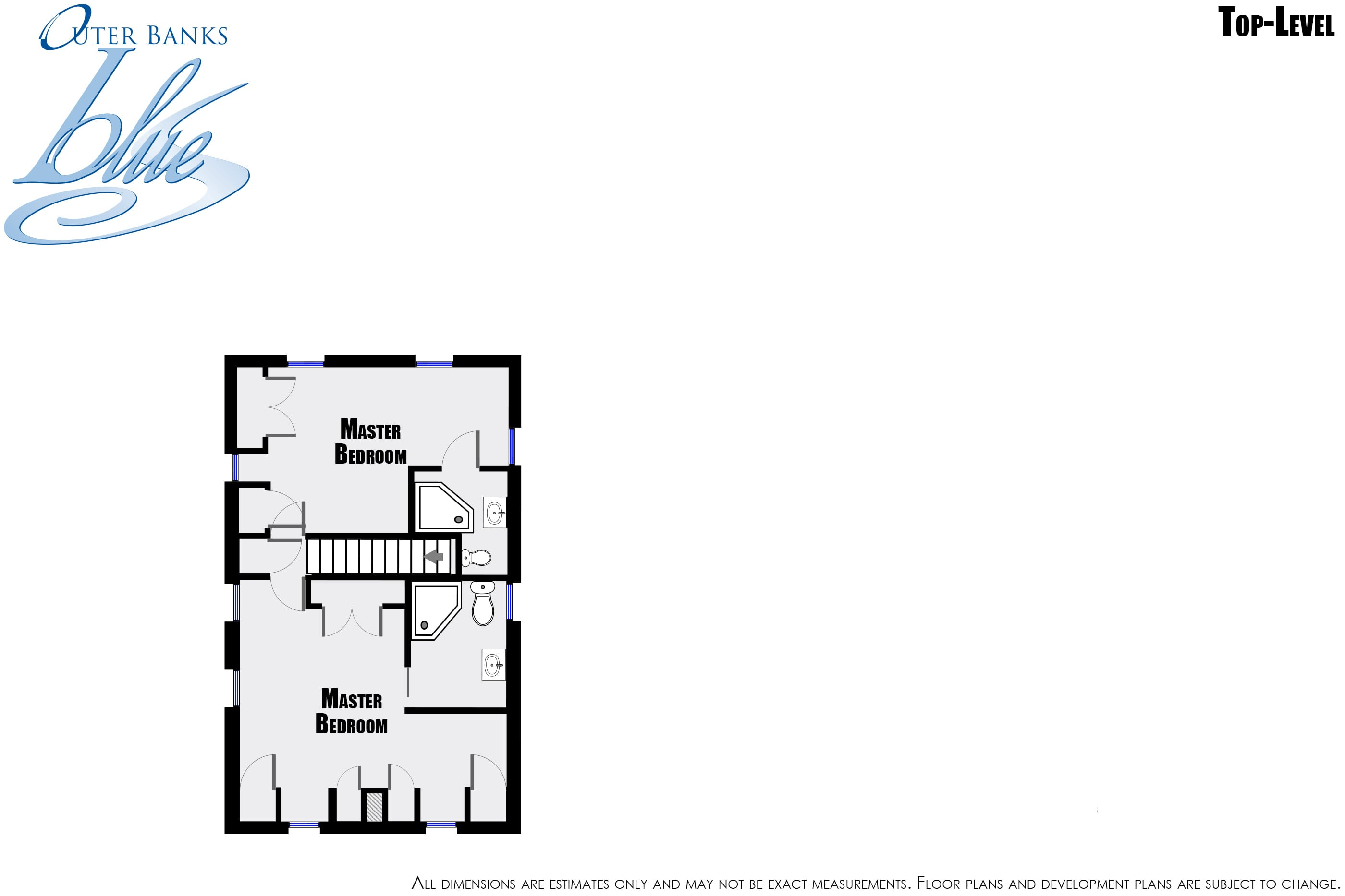 The beach house nags head outer banks blue for Beach house plans outer banks